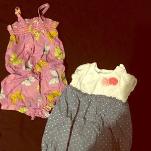 Other - Toddler girls summer rompers